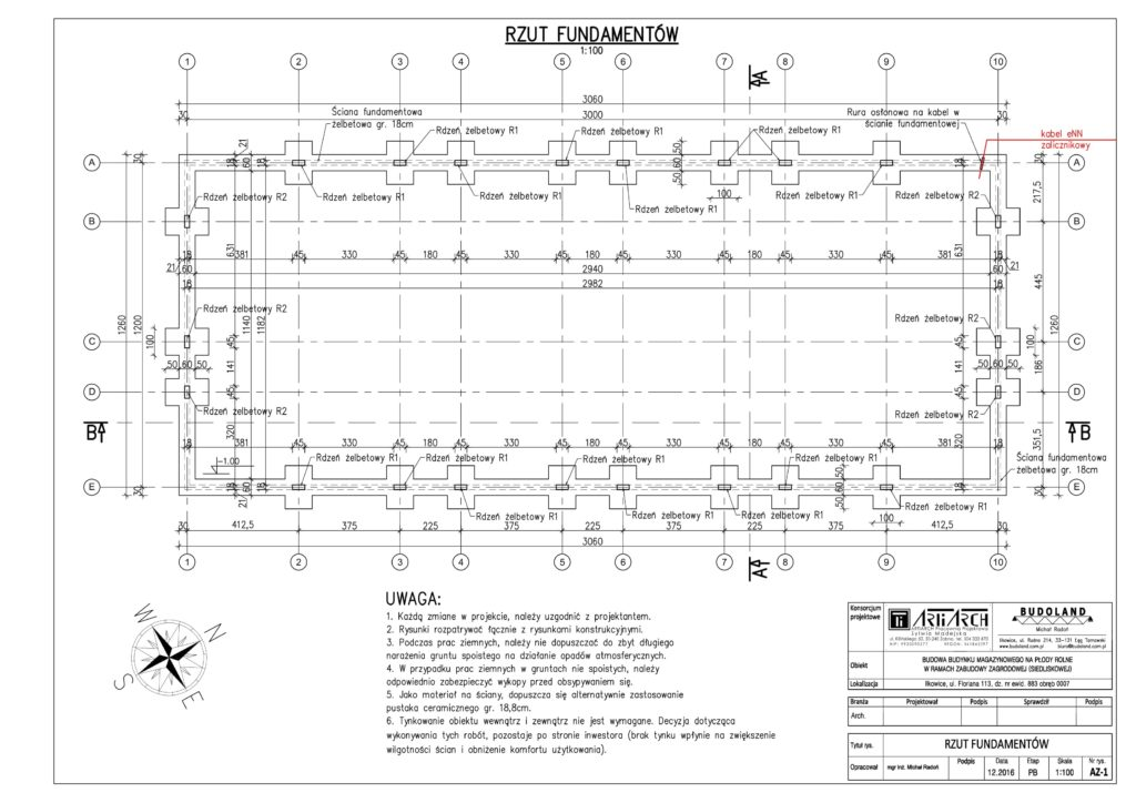 AZ-01 - Rzut fundamentów-1